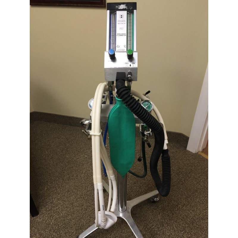 Belmed Pc7 Flowmeter With 4 Tank Yoke Block And Mobile Stand